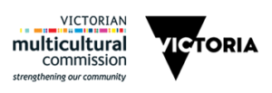 A logo of Victorian Multicultural Comission and Department of Premier and Cabinet