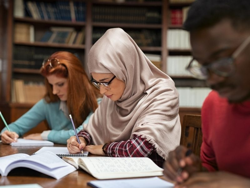 Image of young people studying
